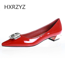HXRZYZ large size women pumps black high heels ladies sexy red bottom heels spring/autumn new fashion pointed toe women shoes