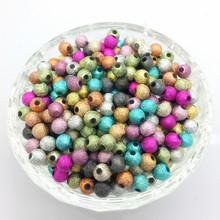 Perles froissées en acrylique, paillettes métalliques, couleur mixte, 4mm, 6mm, 8mm, 10mm, 12mm, fabrication bijoux à bricoler soi-même