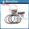 54mm 14mm Piston Pin Ring Set Kit For Chinese Lifan 138cc Engine 4 Wheeler Motorcycle Pit Dirt Trail Motor Bike ATV Quad