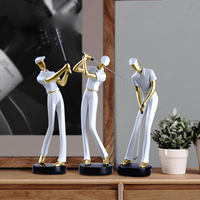 Modern Golf figure ornaments Arts and Crafts miniature figurines resin fairy desk decoration living room accessories home decor