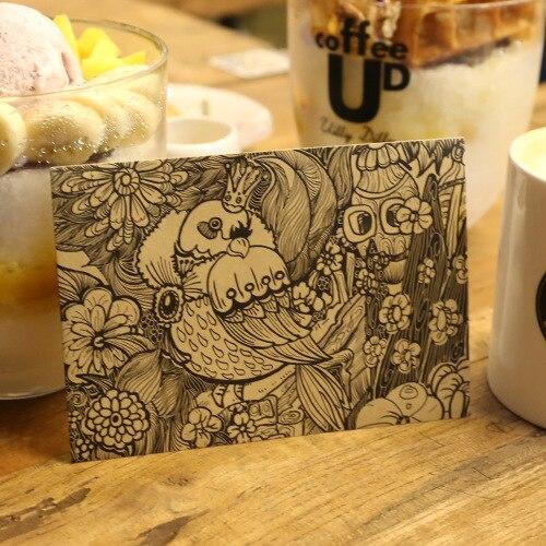 Envelope Style Retro Colorful Ancient Chinese Floral Style Vintage Kraft Paper Envelope Manila Envelope Stationery 10Pcs/Lot