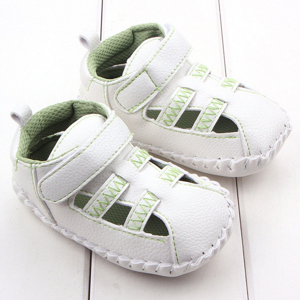 Hot Selling Breathable Infant Toddler Baby Shoes Hollow PU Girl Boy Sneaker Prewalker Fi ...