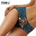 Forudesigns sexy animais impressos calcinhas mulheres lingerie sem costura underwear novidade 3d gato calcinha para senhoras confortáveis calcinahas
