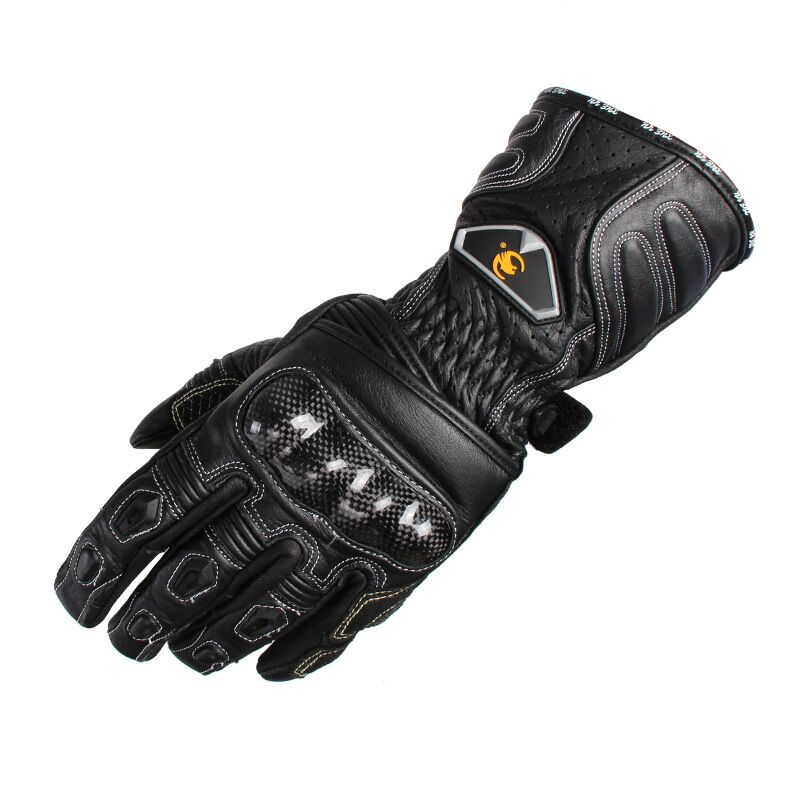 Brand Waterproof Touch Screen Genuine Leather Carbon Fiber Motorcycle Racing Gloves Outdoor motocross off road Protective