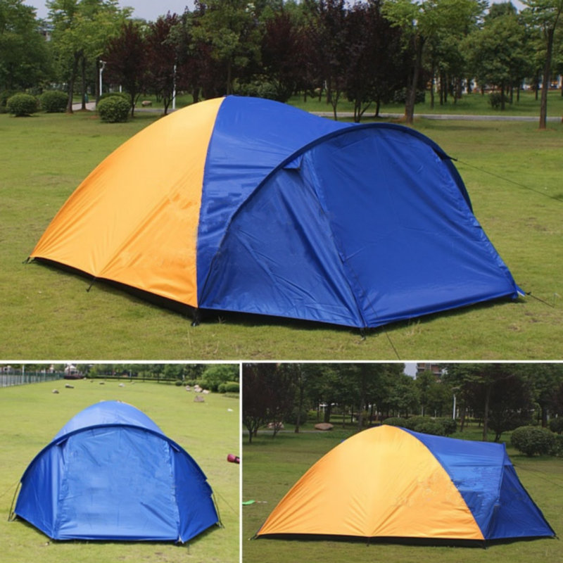 3-4 Person Separated Dual Layer Camping Tent 320x210x145cm Outdoor Waterproof Summer Tent for Hiking Fishing Travel Hunting3-4 Person Separated Dual Layer Camping Tent 320x210x145cm Outdoor Waterproof Summer Tent for Hiking Fishing Travel Hunting