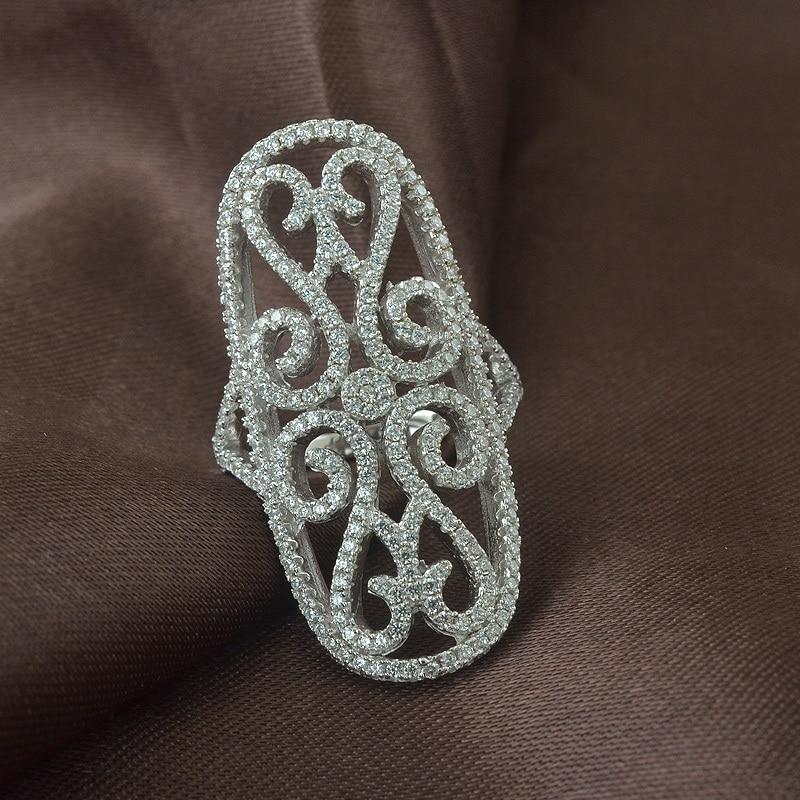 18k Gold Ring Dubai Jewelry Ring Latest long design sterling