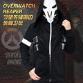 Hot game OW Watch and Over Reaper Hoodies Jacket Coat double Zipper Cloak Cosplay Costume hoodie harajuku Tracksuit