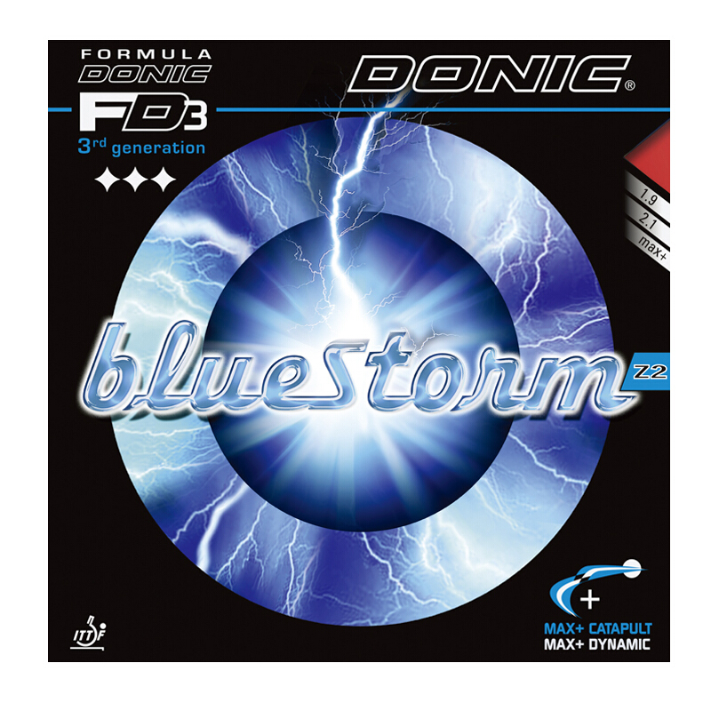 DONIC Table Tennis Rubber Bluestorm Z1 Z2 Z3 Spin Speed pimples in with sponge ping pong