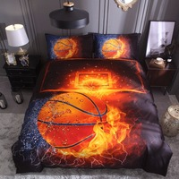 Quilt Cover Set Polyester Bed Cover Set 3D Printing Basketball Duvet Cover Sets Teen Boys Bedding bed linings K409