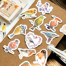 45pcs/box Cute animals Robin Mini Boxed Stickers Diary Scrapbooking Decorative DIY