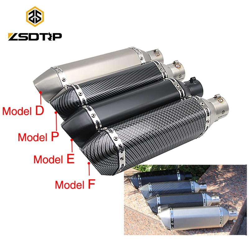 ZSDTRP motociklu motorollera modificētais izplūdes izplūdes gāzu izplūdes caurule DB Killer GY6 CBR125 250 CB400 YZF korpuss Akrapovic Yoshim