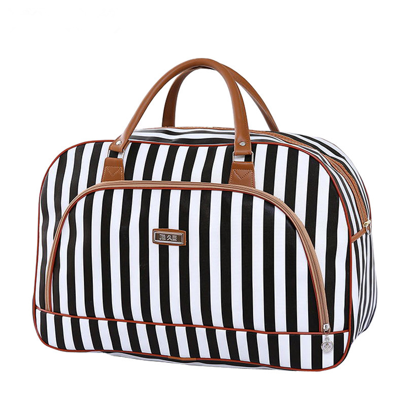 Golden Trumpet Black Travel Fashion Lightweight Large Capacity Duffel Portable Waterproof Foldable Storage Carry Luggage Tote Bag