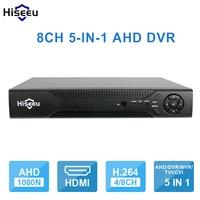 Hiseeu Nvr Poe 8CH 960P DVR Video Recorder For AHD Camera Analog Camera P2P NVR CCTV