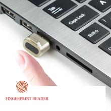 Biometric Security เครื่องอ่านลายนิ้วมือ USB Mini mini USB สำหรับ PC ปลอดภัย
