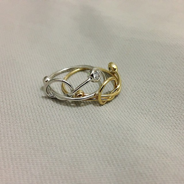 17mm Gold Silver Women Rings 2017 Trendy Design Knot Rhinestone