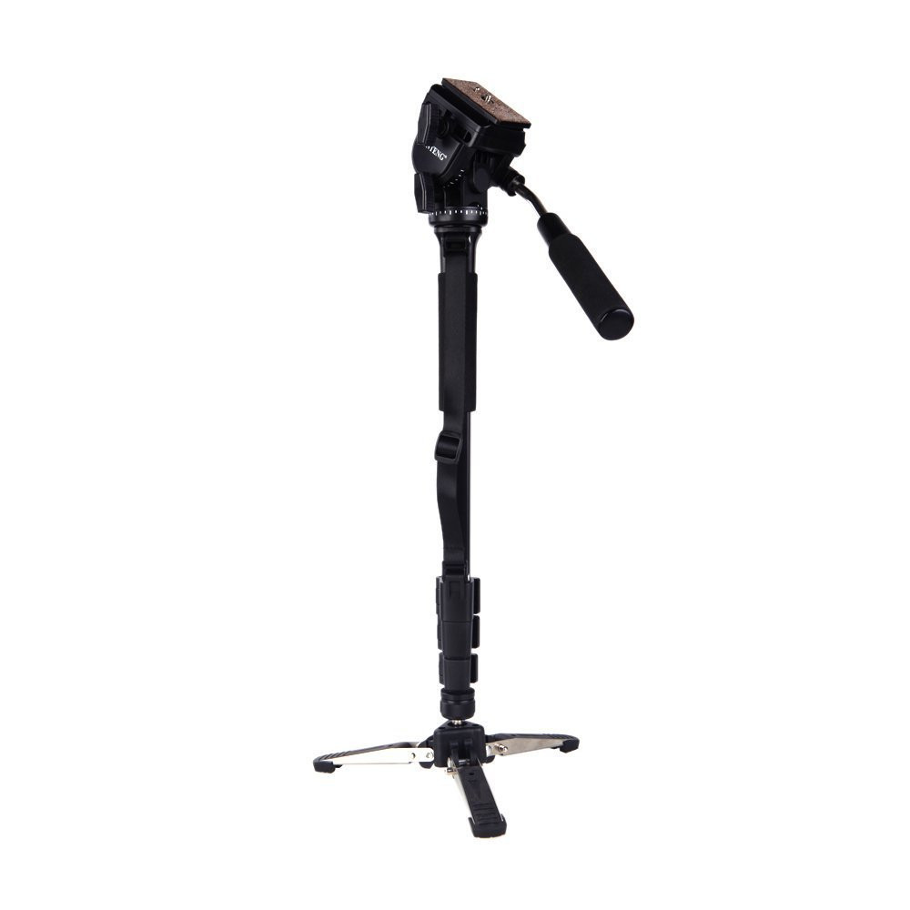 Yunteng-VCT-288-Photography-Tripod-Monopod-WIth-Fluid-Pan-Head-Quick-Release-Plate-And-Unipod-Holder