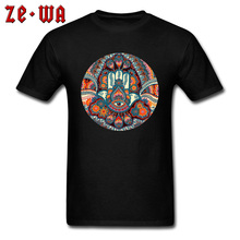 Good Luck Hamsa Hand Ornaments Artisc Print T Shirt Plain Design 3D Leisure Father Tshirts Mothers Day Top Quality Tees