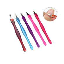 цена на 5pc Stainless Steel Cuticle Pusher Nail Art Fork Manicure Tool For Trim Dead Skin Fork Nipper Pusher Trimmer Cuticle Remover