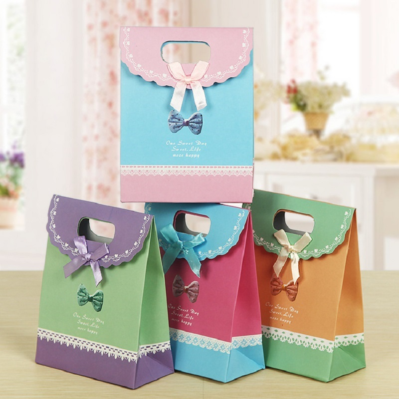 100pcs 3 sizes purple craft paper gift bag for candy for Craft paper gift bags