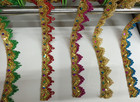 Cheap 15Yard/lot 3.5cm New colorful Sequin Beaded Lace Trims for Costume,Gowns,Dancing Dresses&DIY Crafts