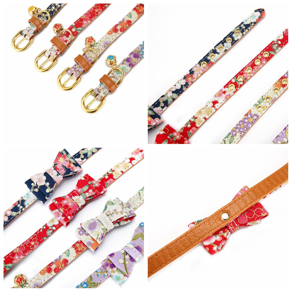 Cat Collar With Bell Dog Collar For Cats Solid Braid Kittens Pet Cat Collars Shiny Adjustable Collars For Cats Pet Lead Supplies (7)