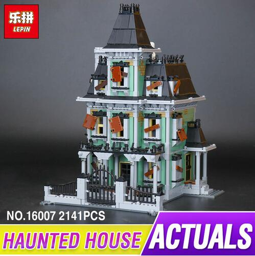 New LEPIN 16007 2141Pcs Monster fighter The haunted house Model set Building Kits Model Compatible With 10228 For children the monster next door