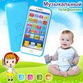 Novo brinquedo Do Bebê Máquina de Aprendizagem telefone, tela de toque do telefone da música língua russa tablet eletrônico educacional brinquedos de plástico telefone