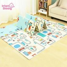Детский Блестящий коврик детский игровой коврик Пазл мягкий коврик большой размер 200*180*1 см утолщенный детский коврик игровой коврик для младенцев