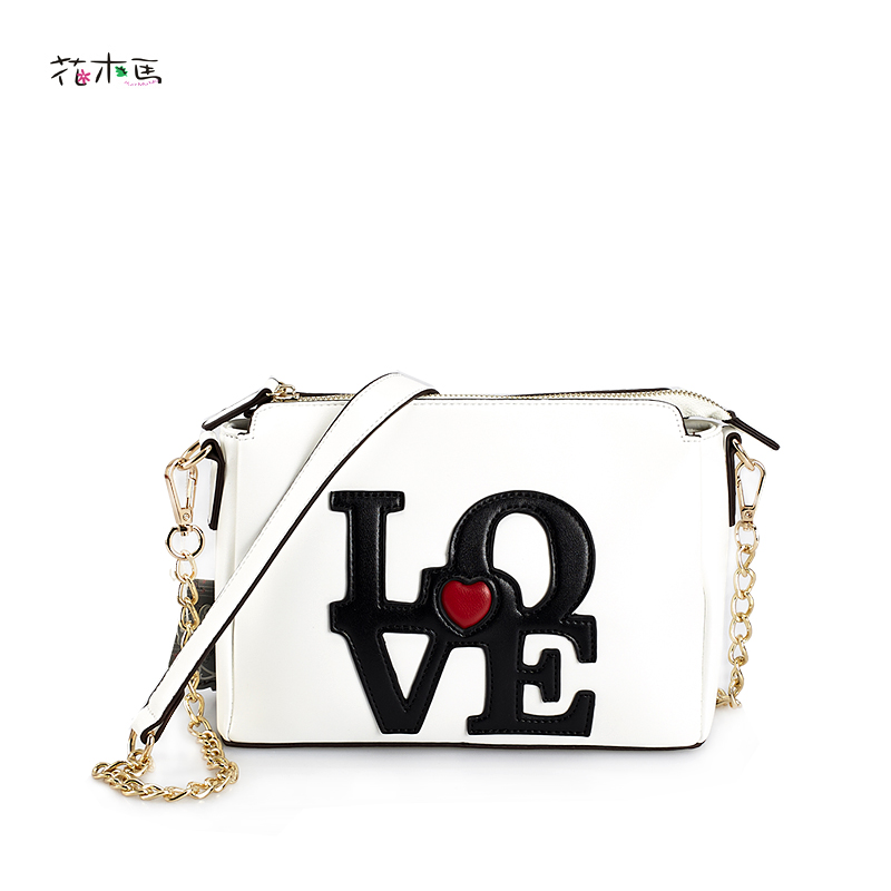 HuaMuMa Chain messenger bag female 2016 spring and summer crossbody love bags shoulder bag women's PU leather bags sleep professor spring love