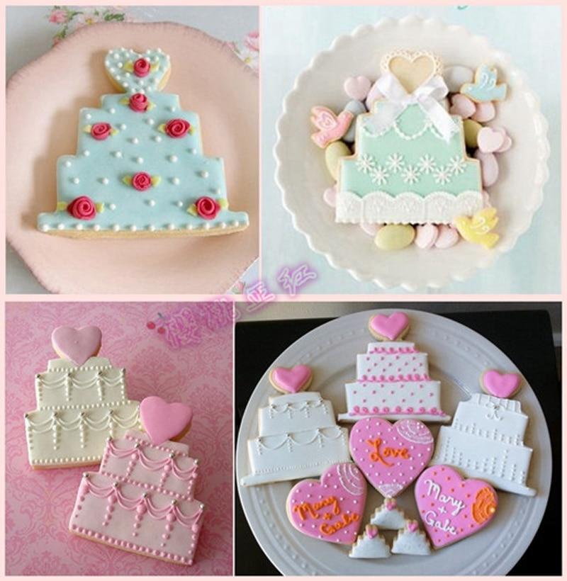 Strange 10Pcs Birthday Cake Shape Metal Cookie Cutters Candy Mold Cupcake Funny Birthday Cards Online Hendilapandamsfinfo