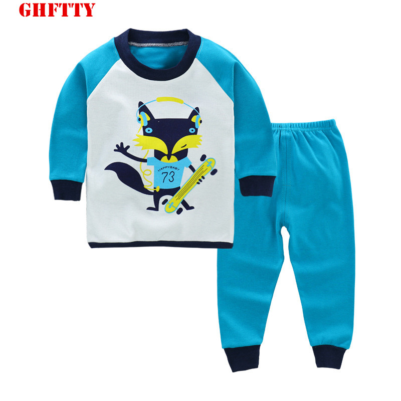 GHFTTY Children Clothing Sets Spring Autumn baby Boys Girls Clothing Sets Full Shirt + Pants 2 Pcs Cotton Suits Kids Clothes
