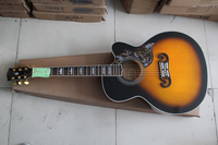 Chinese Factory top quality SJ200 J200 Vintage Sunburst Acoustic Guitar in stock