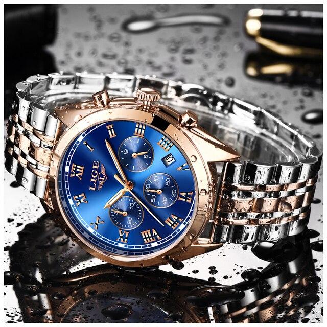 LIGE Watch Men Fashion Sport Quartz Clock Mens Watches Top Brand Luxury Full Ste