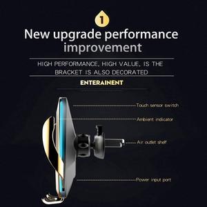 Image 4 - אוטומטי מהדק רכב מטען אלחוטי עם Flowable אור עבור Huawei P30Pro Iphone11 XR XS XS מקס צ י 10W מהיר טעינה מחזיק