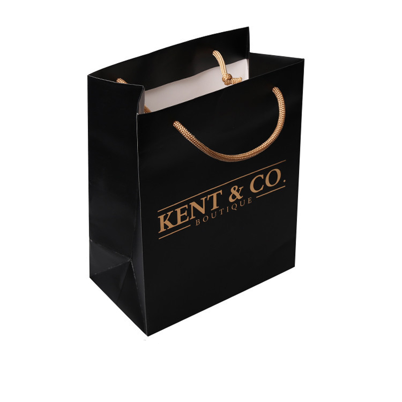 Us 731 0 15 Off Whole 1000pcs Lot Custom Bags With Printed Gold Logo Boutique Luxury Paper Ping Clothes Jewelry Bag Free Shipping In