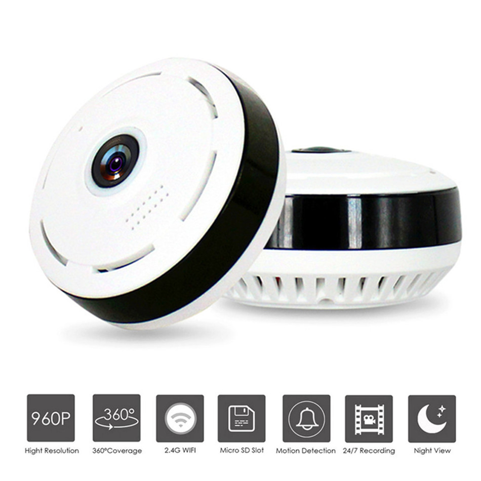 ZILNK FishEye IP Camera 360 Degree Panoramic HD 960P Wireless Mini WIFI Camera Night Vision IR Network CCTV Camera erasmart hd 960p p2p network wireless 360 panoramic fisheye digital zoom camera white