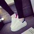 2016 a primavera eo verão sapatos brancos do sexo feminino maré crosta grossa sapatos casuais malha estudante equipado mulheres meninas sapatos DT599