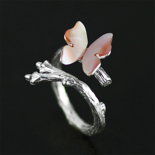 Новое поступление 925 стерлингового серебра Ювелирные изделия эксклюзивный  Красивые бабочки Дизайн кольца  Лучшие подарки