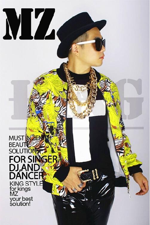f1558658f63 ΞS-XXXL podium Yg familie bi voor mannen merk mode geel patroon jas ...