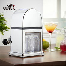 Manual Ice Crusher Machine with Stylish Mirrored Finish - Includes an Tray and Scoop Bar Tools