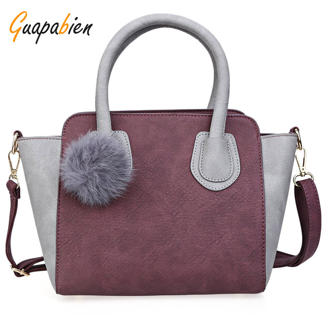 Guapabien 2017 Fashion Designer Handbags High Quality Ladies Tote Bags Crossbody Bags Spring Smiley PU Leather Tote Bag Women