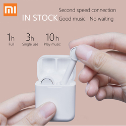 in stock Xiaomi Air TWS AAC HD True Wireless Bluetooth Earphone Active Noise Cancelling Smart Touch Bilateral Call Headphone