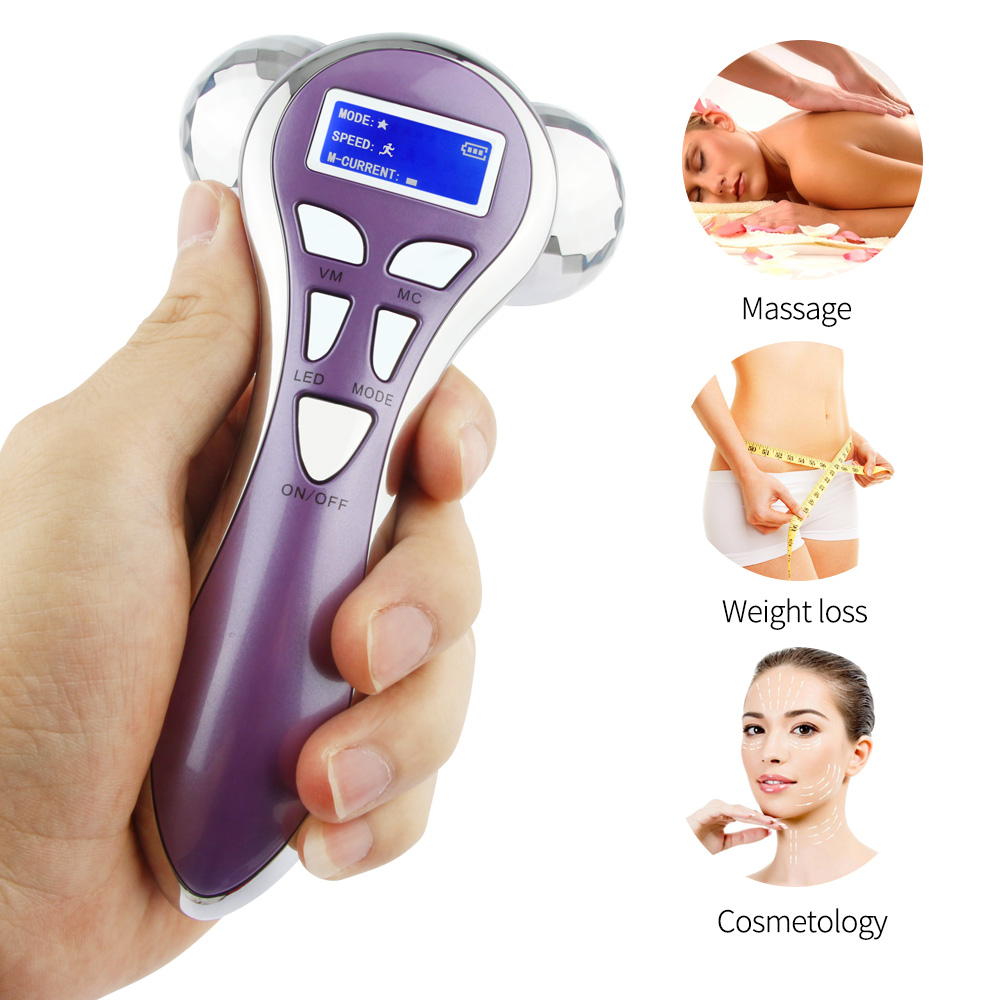 Electrical Vibrating Facial Roller Massager Pulse Massage V Face Lifting Shaping Bar Skin Tightening Anti Cellulite 4D RollerElectrical Vibrating Facial Roller Massager Pulse Massage V Face Lifting Shaping Bar Skin Tightening Anti Cellulite 4D Roller