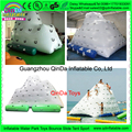 Guangzhou Inflatable water park iceberg,Inflatable Climbing Mountain ,inflatable floating island for sale