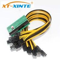 XT XINTE Power Supply Kit 10x 6Pin Port Breakout Adapter Board With 10PCS 50CM UL 1007