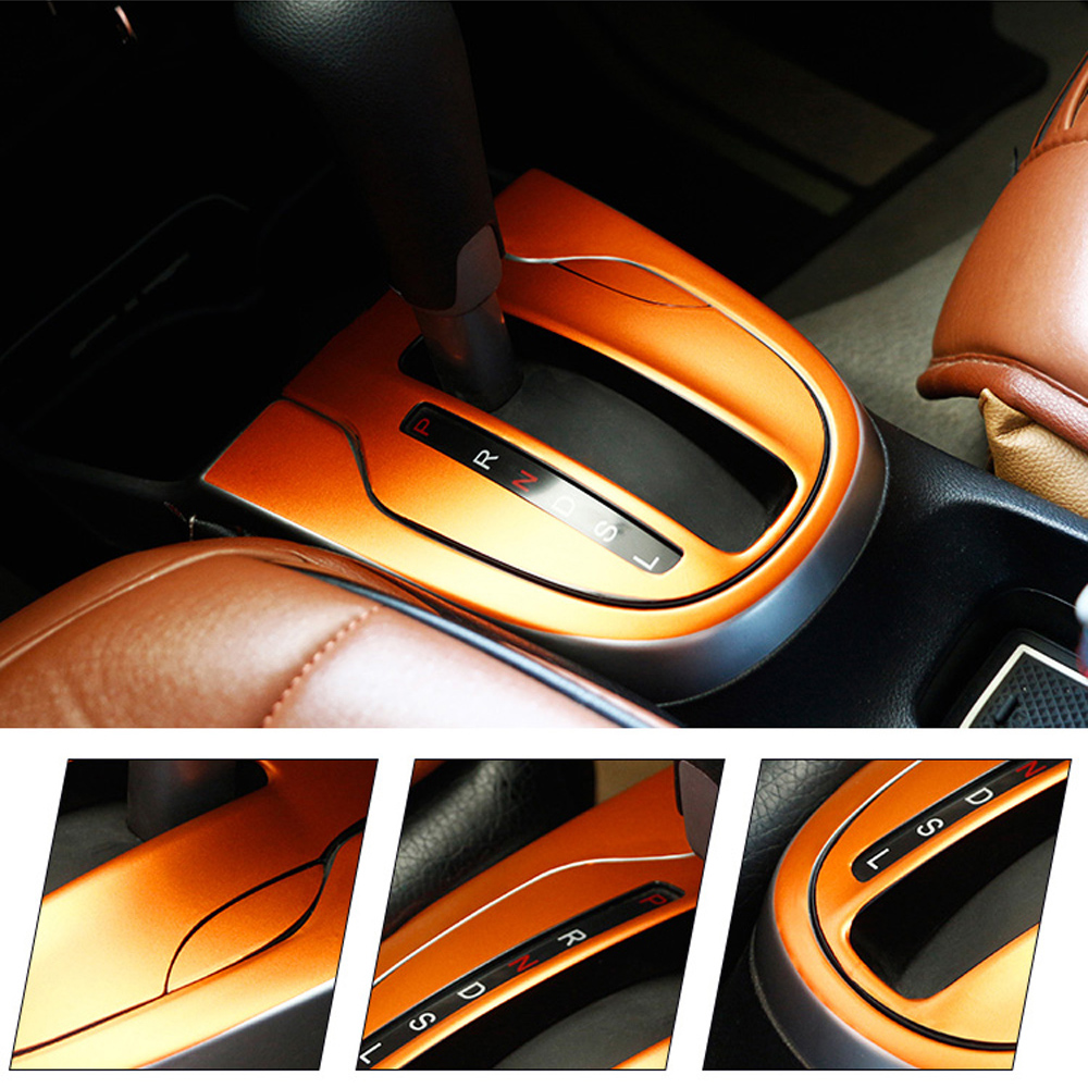 For HONDA FIT JAZZ 2014 2018 Interior Central Control Panel Door Handle 5D Carbon Fiber Stickers Decals Car styling Accessorie
