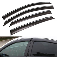 YAQUICKA Fit For Honda Civic 10th 2016 2017 4 Doors Car Door Window sun Visor Shade Rain Guard Cover Car Styling