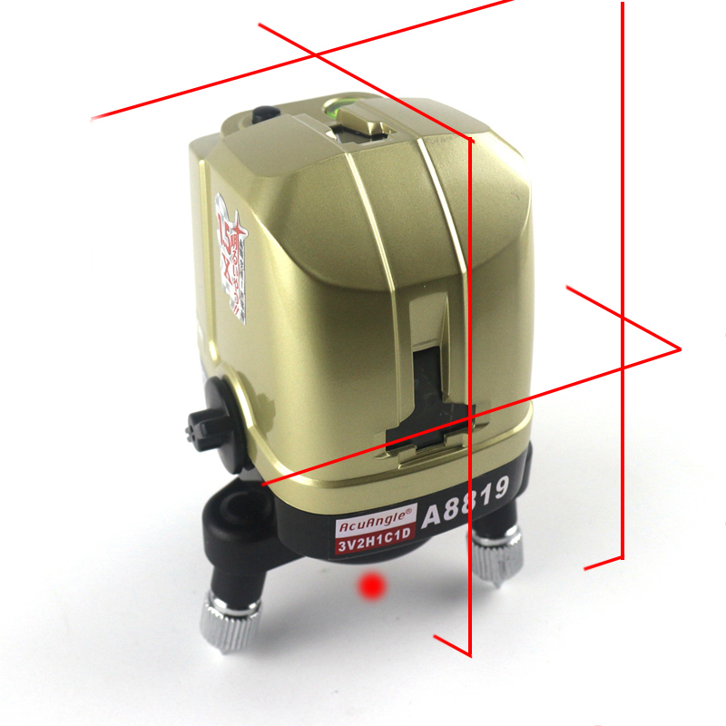AcuAngle A8819 Laser Level Self- leveling White 635nm 5 Red Cross Lines 360 Degree Rotary Nivel Laser Diagnostic tools thyssen parts leveling sensor yg 39g1k door zone switch leveling photoelectric sensors