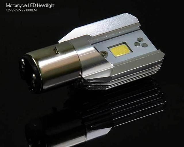 Gemakkelijk installatie DIY hoge lage LED motorfiets koplamp 6 W ...