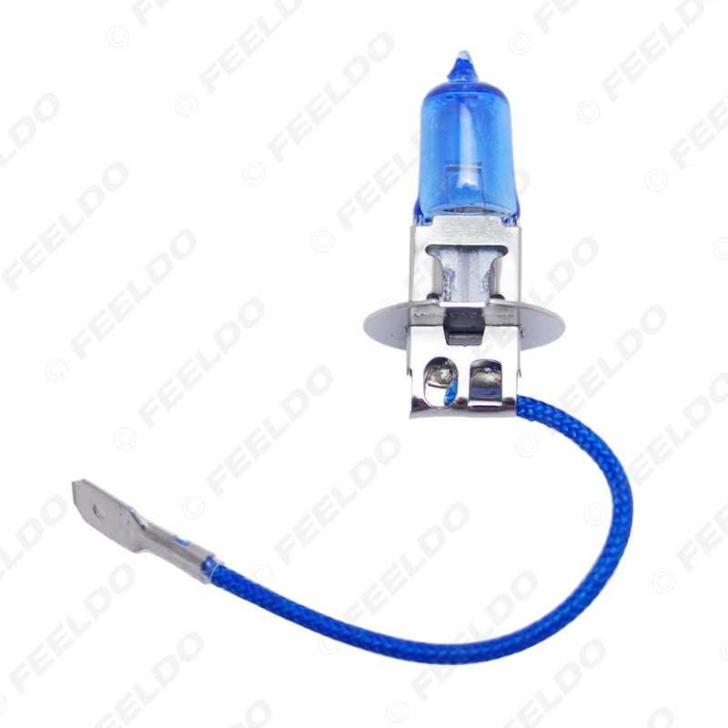 FEELDO 1 pz Bianco H1 H3 H4 H7 H11 9004 9005 9006 9007 Auto Fari Lampada
